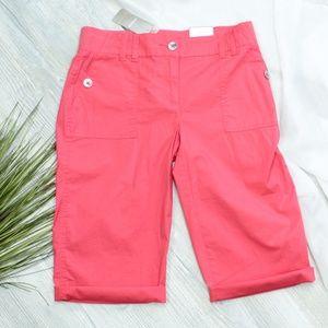 NWT Chicos Bermuda Shorts/Pants Coral/Pink Small